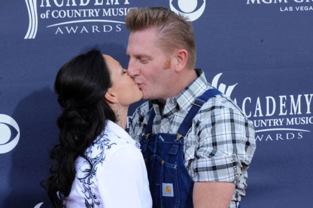 Rory Lee Feek and Joey Martin Feek of country music duo Joey + Rory arrive at the 46th annual Academy of Country Music Awards in Las Vegas on April 3, 2011. Photo by Jim Ruymen/UPI