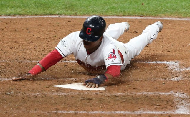 Jose Ramirez and the Cleveland Indians face the Detroit Tigers on Friday. Photo by Aaron Josefczyk/UPI
