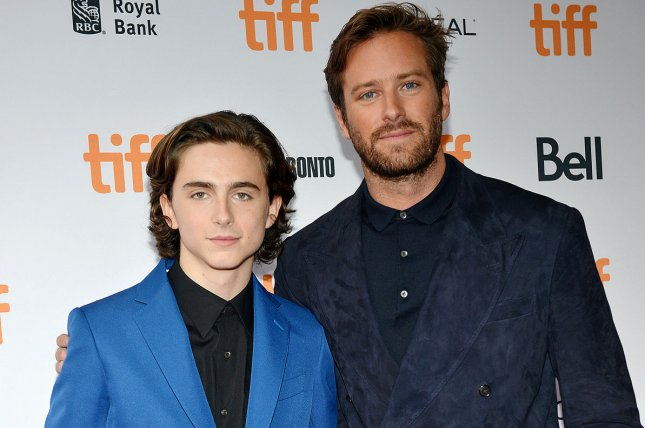 Call Me by Your Name stars Timothee Chalamet (L) and Armie Hammer. The author of the original novel of the same name has announced he is writing a sequel. File Photo by Christine Chew/UPI