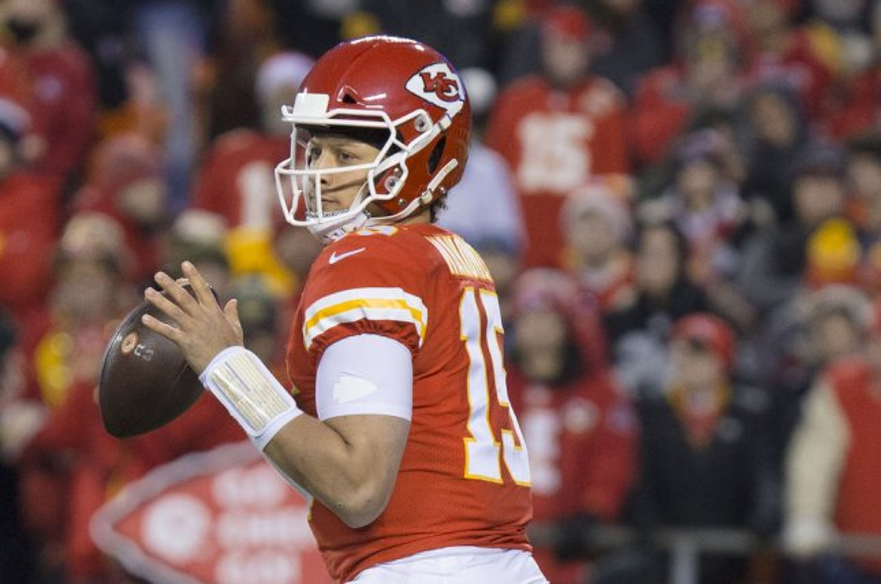 Kansas City Chiefs quarterback Patrick Mahomes (15) earned offensive MVP honors in the 2019 Pro Bowl on Sunday. Photo by Kyle Rivas/UPI
