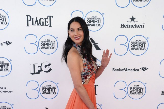 Actress Olivia Munn attends the 30th annual Film Independent Spirit Awards in Santa Monica, Calif., on Feb 21. Munn is now getting ready to join the X-Men cast. File Photo by Jim Ruymen/UPI