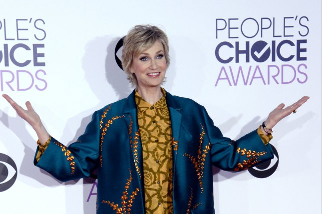 Jane Lynch arrives for the 42nd annual People's Choice Awards at the Microsoft Theater in Los Angeles on January 6, 2016. The actress turns 57 on July 14. File Photo by Jim Ruymen/UPI