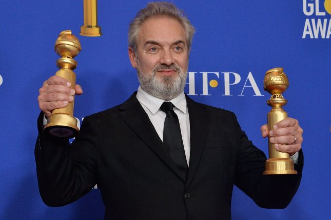 Sam Mendes appears backstage after winning the award for Best Director -- Motion Picture for 1917'during the 77th annual Golden Globe Awards in Beverly Hills on January 5. Photo by Jim Ruymen/UPI