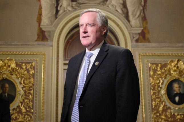 Rep. Mark Meadows, R-N.C., will replace former chief of staff Mick Mulvaney, who will become special envoy to Northern Ireland. File Photo by Alex Wroblewski/UPI