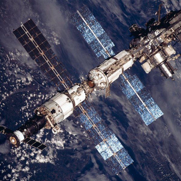 The International Space Station has now spent five years in space on November 20, 2003. The orbiting laboratory complex has grown from a lone, uninhabited module into a permanently staffed, house-sized research facility. The ISS is show in an undated NASA file photo. (UPI Photo/NASA).