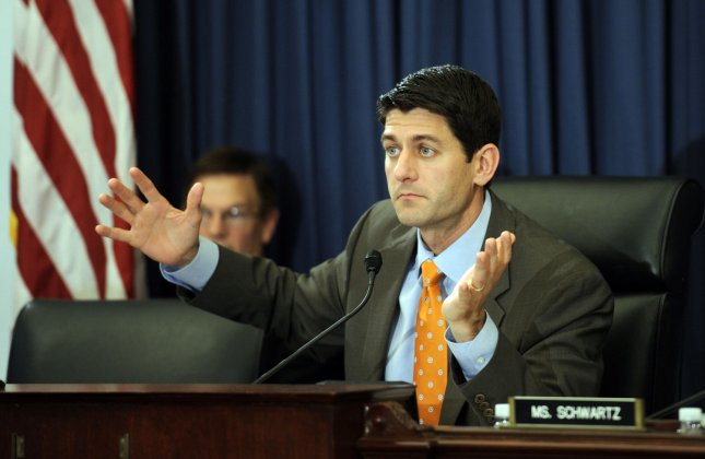 Rep. Paul Ryan, R-WI, who is charging constituents to meet with him in town hall meetings. UPI/Roger L. Wollenberg