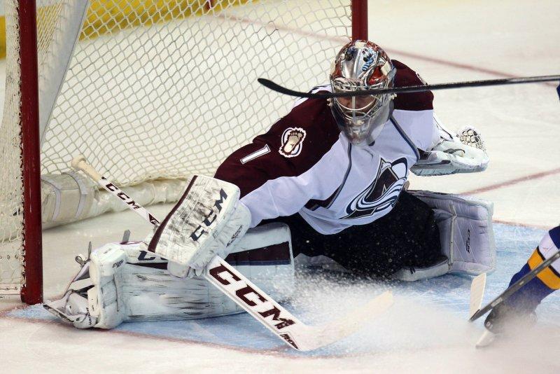 Colorado Avalanche goaltender Semyon Variamov. UPI/Bill Greenblatt