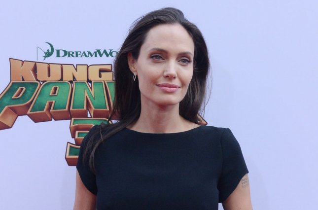 Angelina Jolie attends the Los Angeles premiere of Kung Fu Panda 3 on January 16, 2016. The actress discussed late mom Marcheline Bertrand in the new issue of Elle France. File Photo by Jim Ruymen/UPI