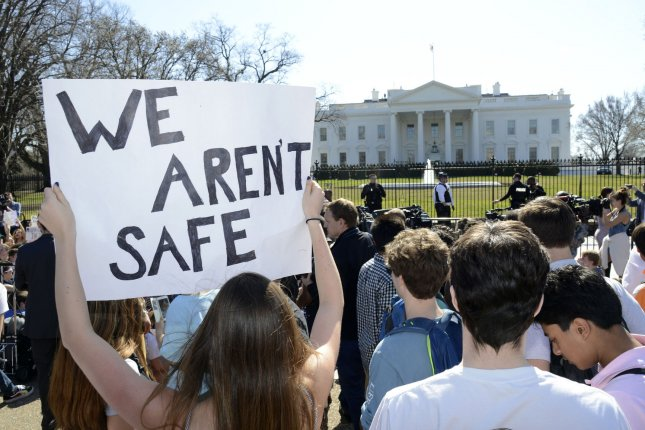 A poll Friday said most teachers oppose carrying a gun in schools, something President Donald Trump has supported since a shooting at a Florida high school. Photo by Mike Theiler/UPI