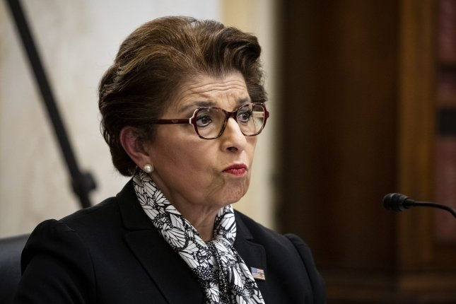 Jovita Carranza, the administrator of the U.S. Small Business Administration, listens at the Senate Small Business and Entrepreneurship hearings on June 10. The SBA said Thursday $38 billion of the Paycheck Protection Program loans have been canceled. Photo by Al Drago/UPI