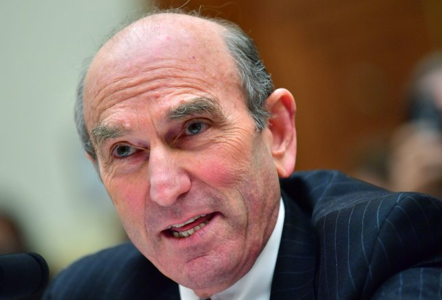 U.S. Special Representative for Venezuela Elliott Abrams warned those who support Venezuelan President Nicolas Maduro, specifically Russia, that doing so will no longer be cost-free. Photo by Kevin Dietsch/UPI