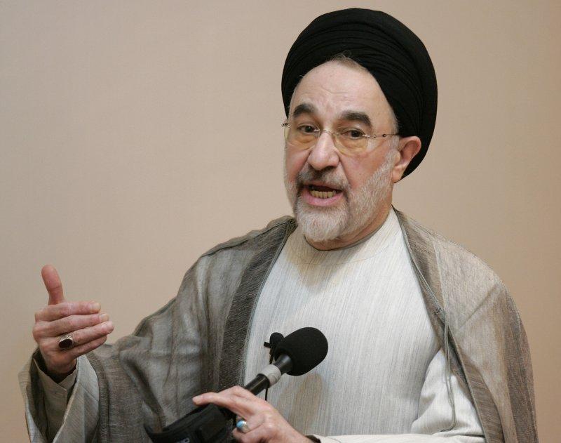 Mohammed Khatami, former President of Iran. (UPI Photo/Brian Kersey)