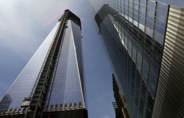 One World Trade Center stands where the destroyed original World Trade Center once stood in New York City on April 30, 2012. One World Trade Center officially surpassed the height of the Empire State Building today to become New York City's tallest building. UPI/John Angelillo