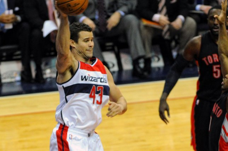 Former Washington Wizards forward Kris Humphries (43). Photo by Mark Goldman/UPI