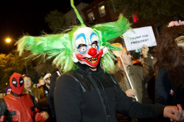 Professional clowns are complaining the new adaptation of Stephen King's It is putting a damper on their business, which they said was already harmed by last year's rash of creepy clown sightings. File Photo by Monika Graff/UPI