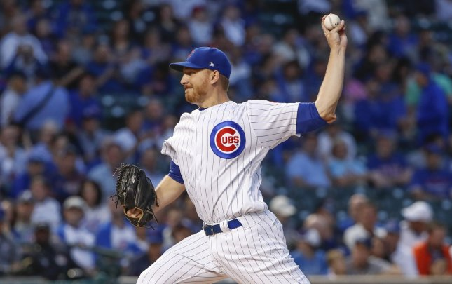 Mike Montgomery and the Chicago Cubs face the St. Louis Cardinals on Friday. Photo by Kamil Krzaczynski/UPI