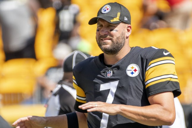 Pittsburgh Steelers quarterback Ben Roethlisberger warms up before playing against the Las Vegas Raiders on Sunday at Heinz Field in Pittsburgh. Photo by Archie Carpenter/UPI