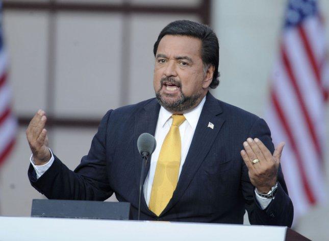 Gov. Bill Richardson (D-NM) delivers remarks during the final day of the Democratic National Convention at Invesco Field at Mile High in Denver on August 28, 2008. (UPI Photo/Kevin Dietsch)