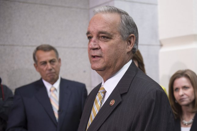 Rep. Rep. Jeff Miller, R-Fla., speaks on improving veterans health care, following a House Republican meeting on Capitol Hill on July 29, 2014 in Washington, D.C. UPI/Kevin Dietsch