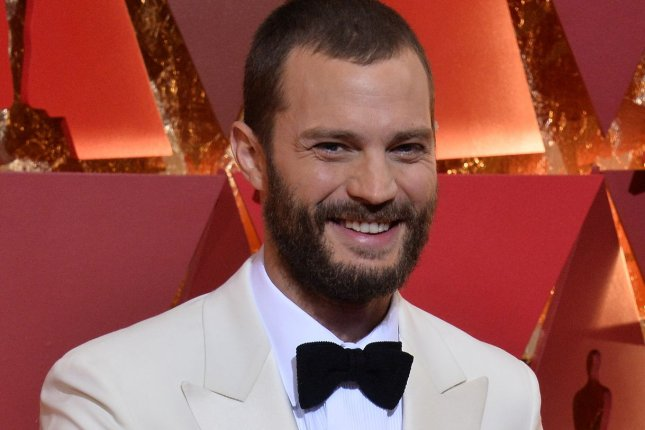 Actor Jamie Dornan is set to film the BBC miniseries Death and Nightingales in Northern Ireland this summer. File Photo by Jim Ruymen/UPI