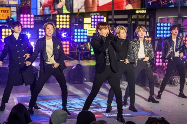 Members of South Korean boy band BTS are eligible for military service deferrals under a new amendment that recognizes recipients of the government-conferred Order of Cultural Merit. File Photo by Corey Sipkin/UPI