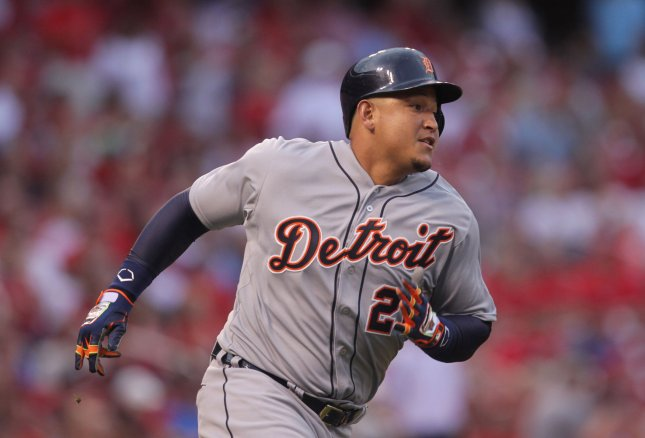 Miguel Cabrera and the Detroit Tigers raced past the Chicago White Sox on Saturday. Photo by Bill Greenblatt/UPI