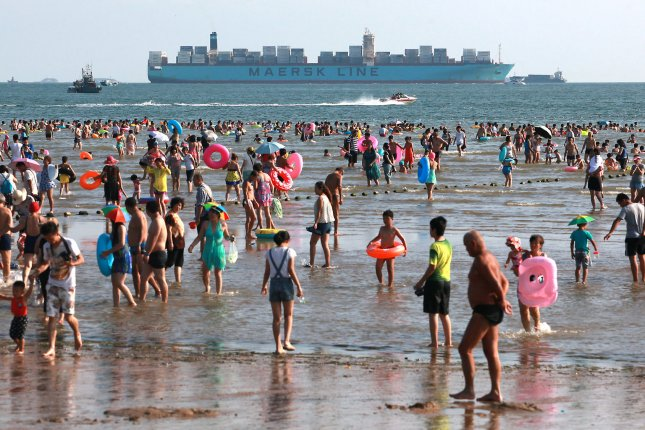 Scientists found filtering chemicals in water samples collected near public beaches in China. File Photo by UPI/Stephen Shaver