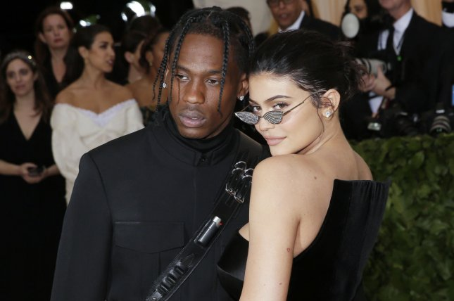Travis Scott is going on tour and his girlfriend Kylie Jenner and their daughter Stormi will be tagging along. File Photo by John Angelillo/UPI