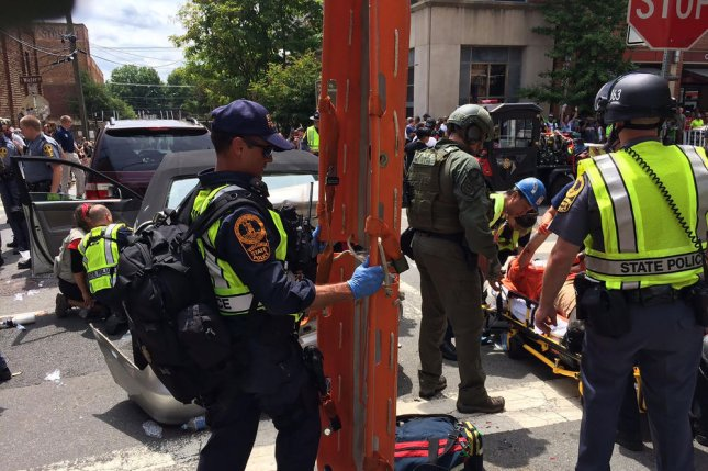An independent report on the Charlottesville, Va., violence on August 12, in which demonstrators faced off against counter-protesters and one person died, was released on Friday. File Photo by Virginia State Police/UPI