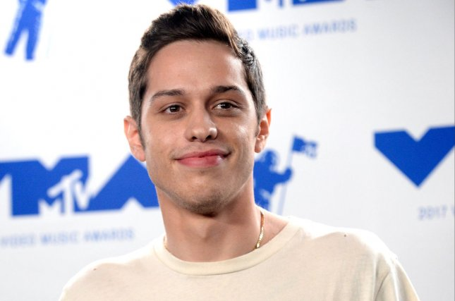 Pete Davidson acknowledged that he was engaged to Arian Grande on The Tonight Show. File Photo by Jim Ruymen/UPI