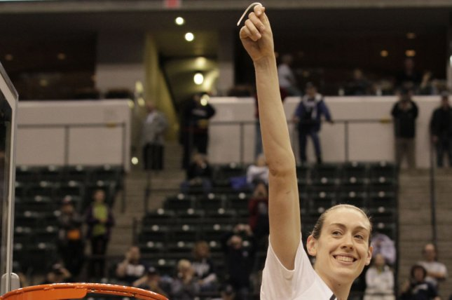 Breanna Stewart of the Seattle Storm won the WNBA MVP and finals MVP award last year, averaging 21.8 points, 8.4 rebounds per game. She will miss the entire 2019 season after rupturing her right Achilles tendon Sunday in Europe. File Photo by John Sommers II/UPI