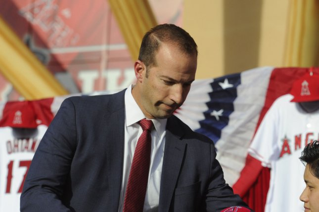 Los Angeles Angels general manager Billy Eppler joined the organization in 2015. He had one year remaining on his contract. File Photo by Lori Shepler/UPI