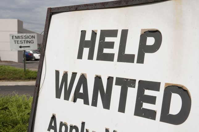 Pennsylvania and California saw the largest increases in new jobless claims, Thursday's report said. Michigan and Delaware saw the greatest decreases.File Photo by Gary C. Caskey/UPI