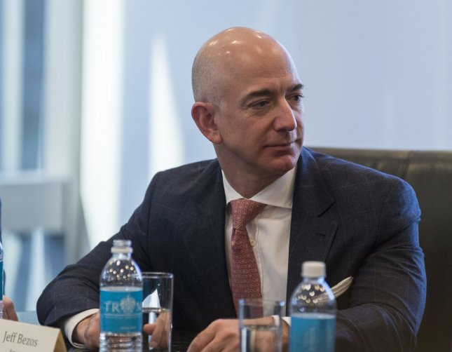 Amazon CEO Jeff Bezos attends a meeting at Trump Tower in New York City on December 14, 2016. This year, Bezos was named the wealthiest man in the world with a net worth of more than $127 billion. File Photo by Albin Lohr-Jones/UPI/Pool
