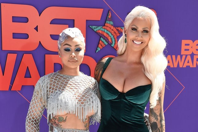 Blac Chyna (L) and Amber Rose attend the BET Awards on Sunday. Photo by Gregg DeGuire/UPI