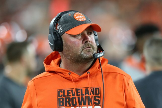 The Cleveland Browns fired head coach Freddie Kitchens after one season. The Browns posted a 6-10 record this year. File Photo by Aaron Josefczyk/UPI