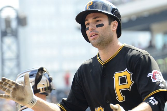 Former Pittsburgh Pirates infielder Neil Walker played his first seven MLB seasons with the Pirates. File Photo by Archie Carpenter/UPI