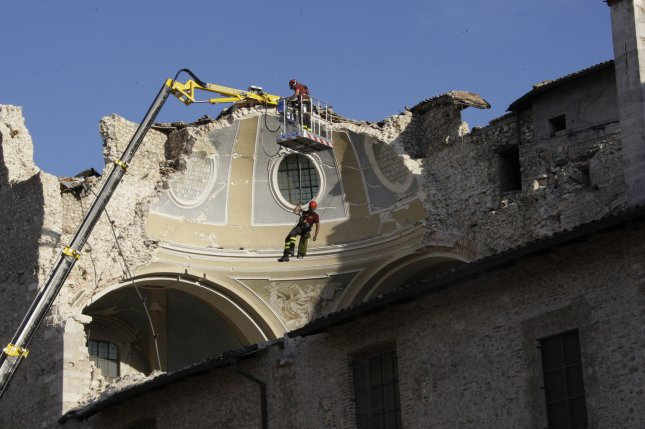 A view of the earthquake hit area in the city o L'Aquila, Italy on July 8, 2009. File Photo by Anatoli Zhdanov/UPI