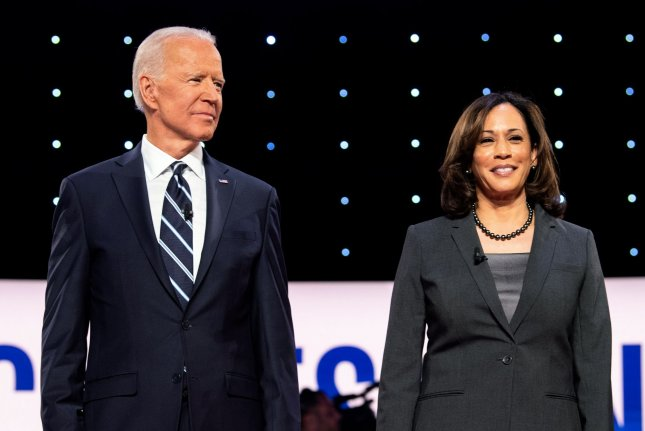 Former Vice President Joe Biden, the Democratic candidate for president, and his running mate, California Sen. Kamala Harris, released their 2019 tax returns on Tuesday ahead of the first presidential debate. File Photo by Kevin Dietsch/UPI