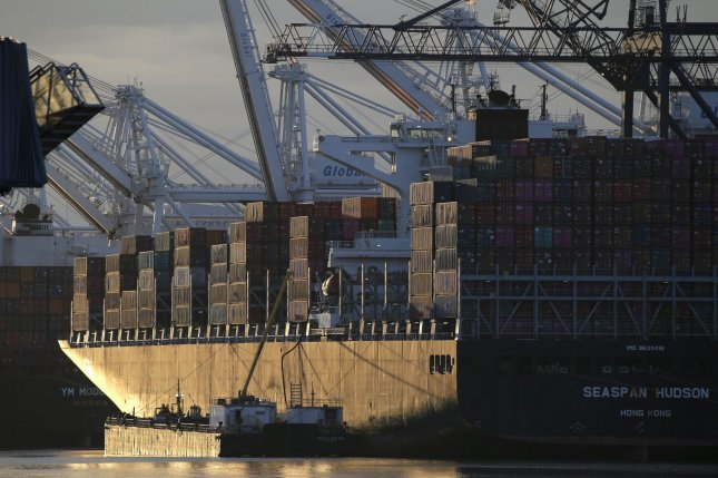 Current account deficits reflect combined balances on trade in goods and services and income flows from U.S. and foreign residents. File Photo by John Angelillo/UPI