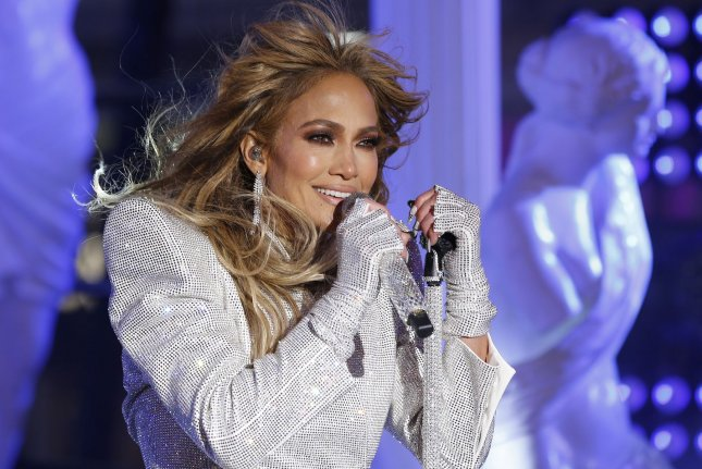 Jennifer Lopez has released a new music video for her song Cambia el Paso, featuring Rauw Alejandro. Pool Photo by Gary Hershorn/UPI