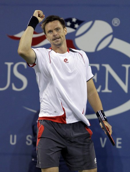 Robin Soderling, shown in a 2010 file photo, defeated Andy Roddick in straight sets Sunday and won the Brisbane International. The title will move Soderling to No. 4 in the next men's tennis rankings. UPI/John Angelillo