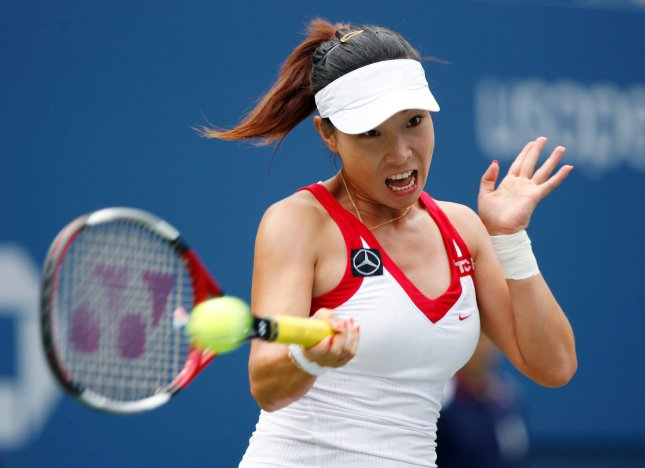 Jie Zheng, shown during the U.S. Open in August, has advanced to the quarterfinals of the Guangzhou International Women's Open in China. (UPI Photo/John Angelillo)