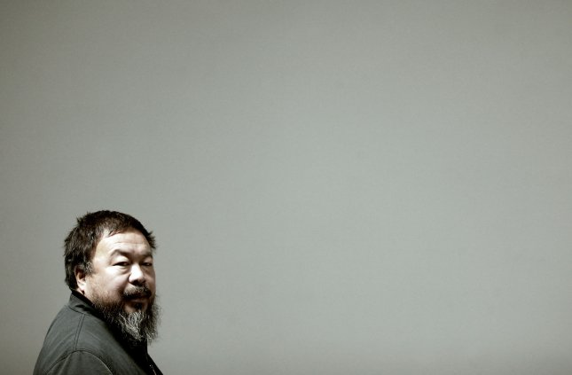 Chinese artist Ai Weiwei posed as drowned Syrian toddler Alan Kurdi in a photograph to be published in India Today. File Photo by Stephen Shaver/UPI