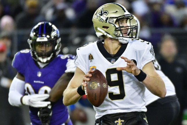 Drew Brees and the New Orleans Saints square off with the Minnesota Vikings this weekend. Photo by David Tulis/UPI