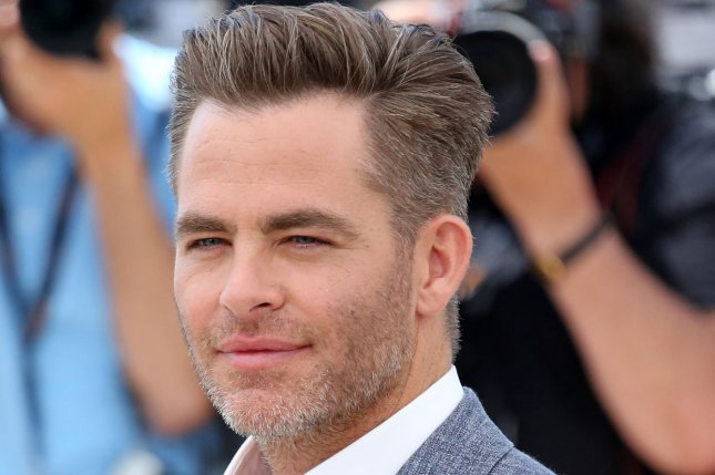Chris Pine arrives at a photocall for the film Hell Or High Water during the 69th annual Cannes International Film Festival in France on May 16, 2016. File Photo by David Silpa/UPI