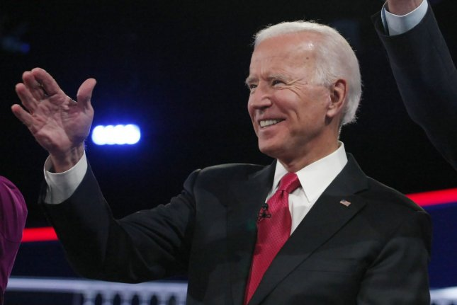 Former Vice President Joe Biden proposedraising the corporate tax rate from 21 percent to 28 percent.Photo by Tami Chappell/UPI