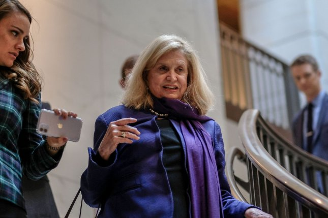 Rep. Carolyn Maloney, D-NY, said the passing of the Never Again Education Act would help bolster understanding of the Holocaust and combat anti-Semitism. Photo by Alex Wroblewski/UPI