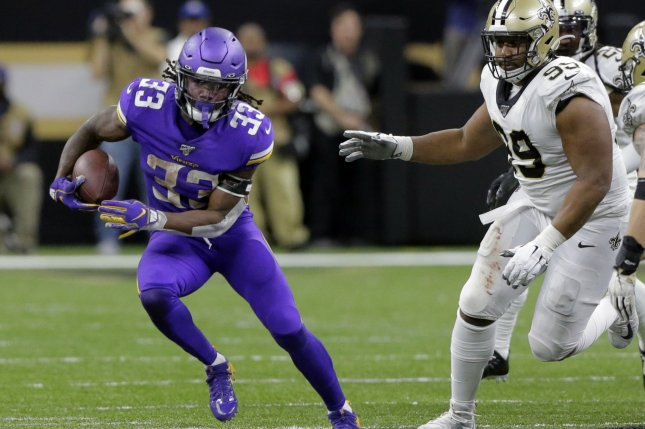 Minnesota Vikings running back Dalvin Cook (33) has one year and $1.3 million remaining on his current contract. File Photo by AJ Sisco/UPI