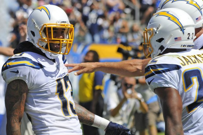 Los Angeles Chargers wide receiver Keenan Allen (13) is my top fantasy football option for his position in Week 14. File Photo by Lori Shepler/UPI
